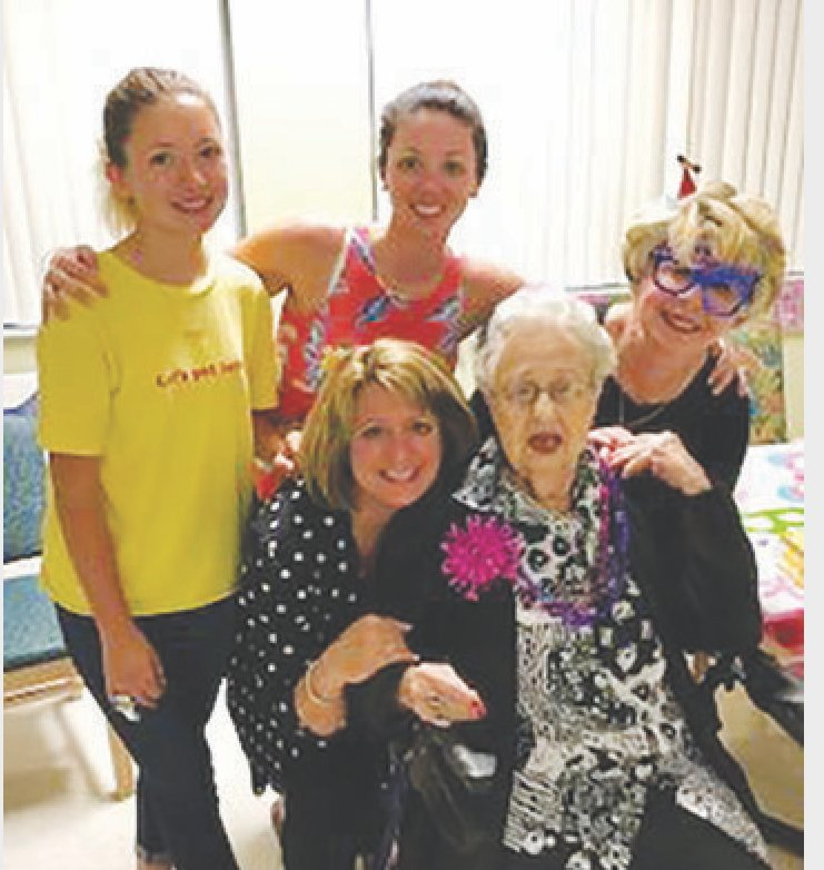"These five generations of women believe Mother's Day isn't limited to a single day of veneration. Front from left, ""Nonnie"" (Susan Carter), ""Nana"" (great-great-grandmother Claudia Ingaldi), back from left, Christen Malo, the 15-year-old who is the future to the family's heritage, ""Mom"" (Nicole Aston) and ""Gammy"" (great-grandmother Annette Engelman)."