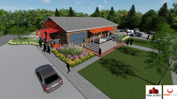 A rendering of what the Common Fence Point Community Hall may look like when renovations are completed, thanks to a recent $187,000 grant the association that owns the building recently received.