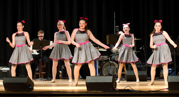 "The Stage Door Dancers perform a routine to ""Welcome to the 60's"" from the musical, ""Hairspray."""