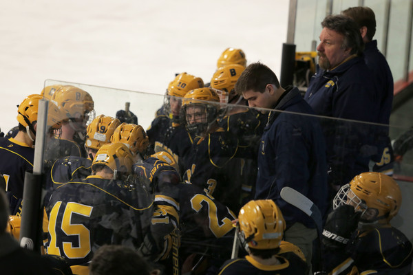 The Barrington High School boys' hockey team won the first game of the Division II championship series, and will play for the title tonight, March 17, at 6 p.m.