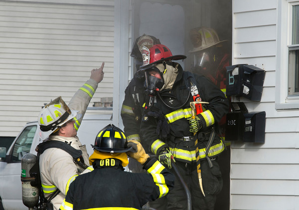 Fire Chief Michael DeMelo directs firefighters during a recent blaze. The Bristol Fire Department will train residents during its first Citizen Fire Academy.