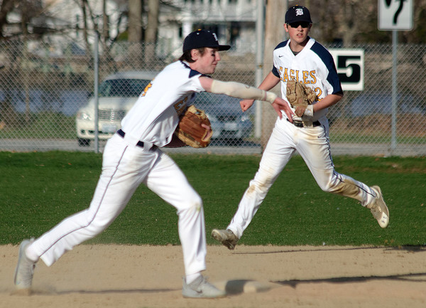 The Barrington High School baseball team slipped to 2-3 after a 3-0 loss to Ponaganset on Monday.