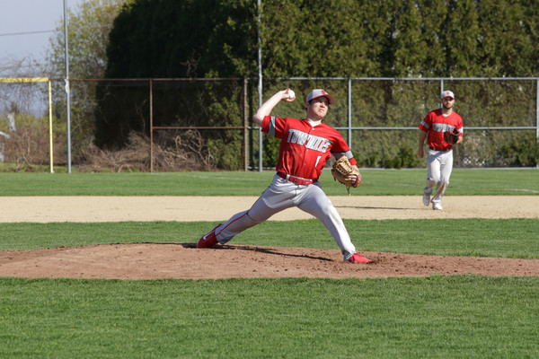 EPHS sophomore pitcher Seth Daly strikes out a Portsmouth batter.