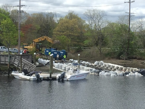 Construction is underway to build a new boat ramp at Police Cove Park in Barrington. The Rhode Island Department of Transportation is helping pay for the project.
