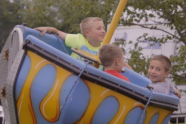 The carnival rides are among the big attractions at the annual St. Barnabas Festival.