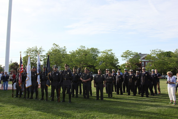 The Bristol Police and Fire Color Guards