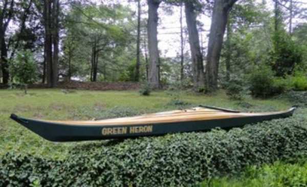 Hand-made by members of the Westport Fishermen's Association, this cedar strip sea kayak will be the grand prize of the clambake raffle.