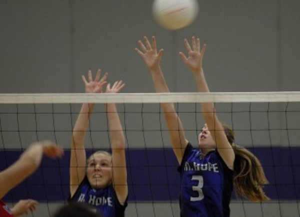 Mt. Hope girls look to improve play at the net moving into the season.