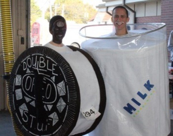 "Winners of last year's Freaky 5k costume contest competed in the race as ""cookies and cream."""