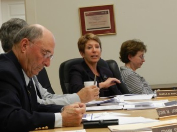 BCWA Executive Director Pamela Marchand, shown here at Wednesday's Board of Directors meeting, said she favored one alternative rate structure because of its simplicity.