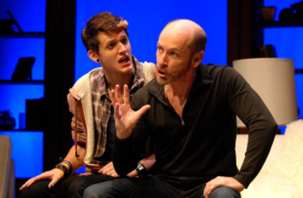 2nd Story Theater artistic director Ed Shea (right) on stage with another actor at the Warren theater.