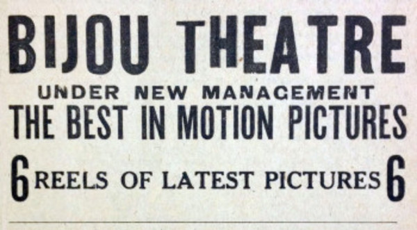 This ad for the Bijou Theatre ran in the Warren and Barrington Gazette this week in 1913. It is curretnly the home of the Imagine gift shop.