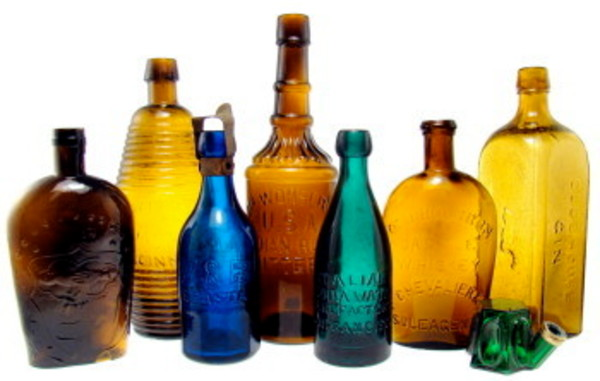 The value of an antique bottle is dependent on many different factors.