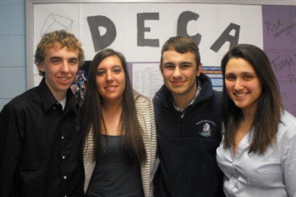 Ben Ratier, Melanie Barbary, Justin Ursini and Kristina Lynch, members of Mt. Hope High School's DECA chapter will attend the International Career Development Conference in Anaheim, California. Not pictured are Burke O'Brien, Gabriel Cruz and Dan Rensehausen.