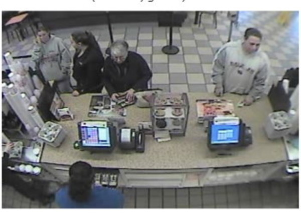 Barrington police are hoping someone can share information about the man (right) shown in this surveillance footage.