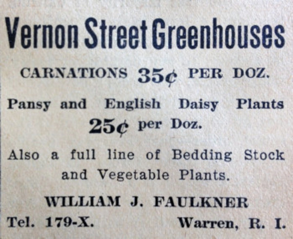 An ad that ran in the Warren and Barrington Gazette this week in May 1913.