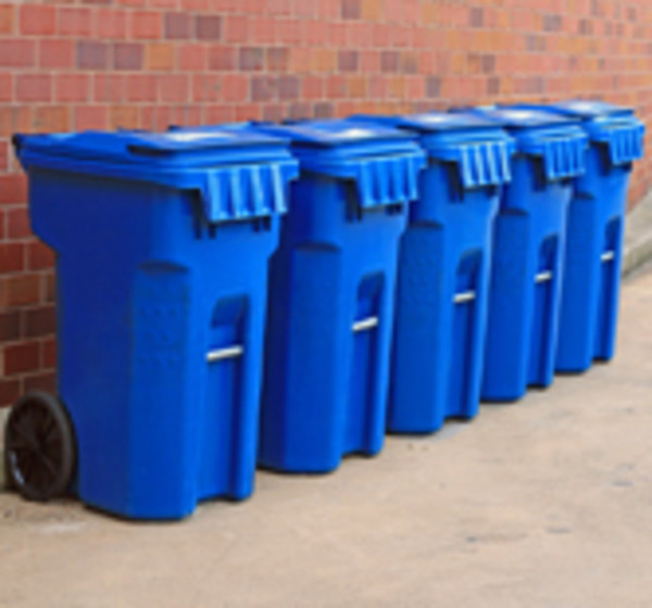 East Providence residents will soon receive larger blue bins for use in an auotmated collection of recyclable materials.