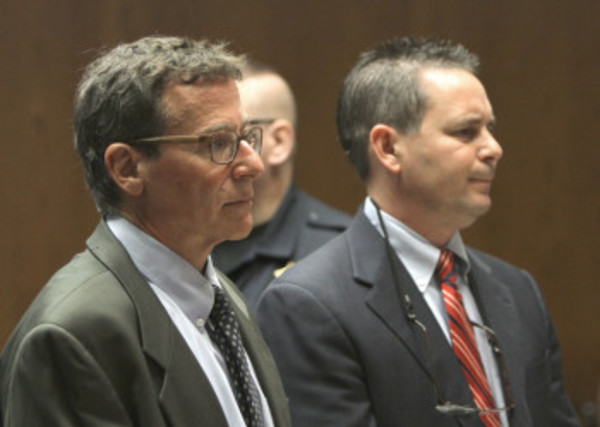 Bruce M. Becker (left) changed his plea from not guilty to no contest on Friday.