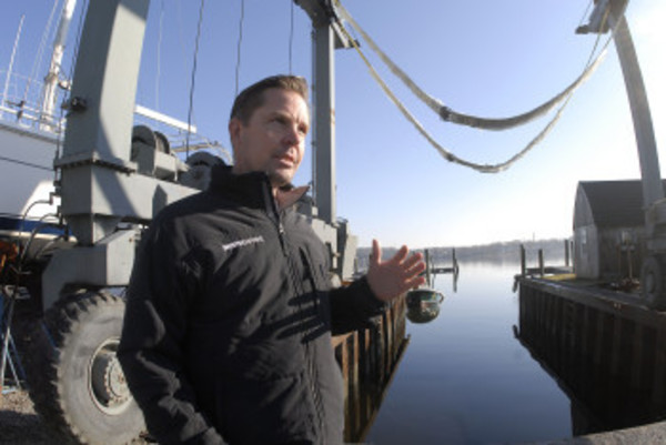 Bristol Marine president Andy Tyska explains his company's master plan, which includes expanding his marina from 25 to 39 slips.
