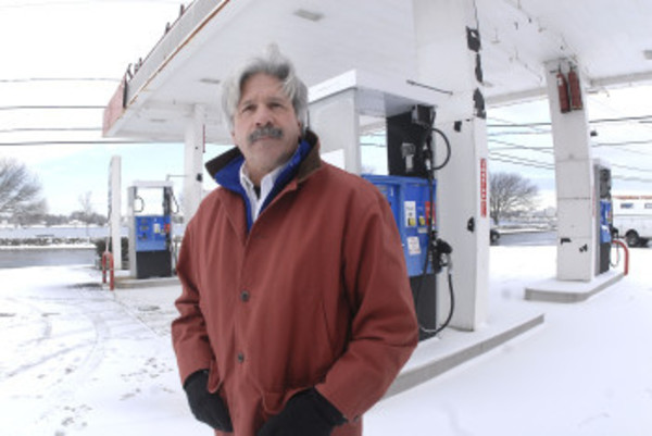 Joe Berretto, Jr., has his family's gas station at 756 Hope St., back on the market for $575,000.
