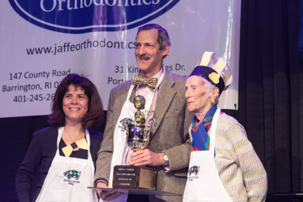 Photos by Rupert Whitley PhotographyThe 2014 Bodacious Bee champions are 'Queen Bee and Associates.' The team (from left to right) of Dr. Grace DaSilva, Dr. Allen Dennison and Frances Dennison pose with their trophy.