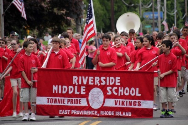 The Riverside Middle School band performs during the annual Memorial Day Parade, May 26, in city.