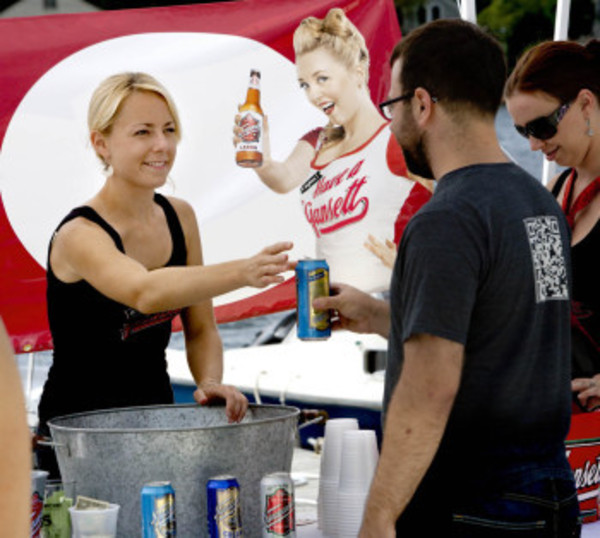 Narragansett Beer Brewery was one of the local beer companies to attend the first-ever East Bay Beer Fest.