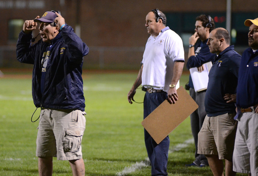 As Barrington's head football coach from 1990 to 2014, Bill McCagney (left) guided the Eagles to seven league championships, two co-league championships, and five Super Bowl titles.