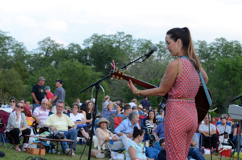 A summertime sunset concert at Westport Rivers Vineyard and Winery.
