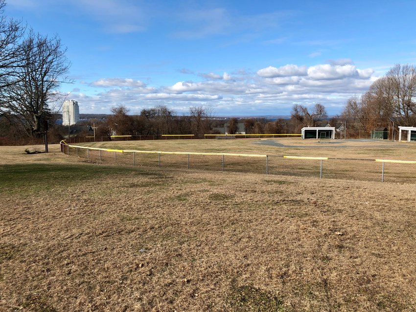 Portsmouth Little Leagues plans to expand this baseball field behind the senior center have been put on hold because the site is one of the potential locations for a future town community recreation center.