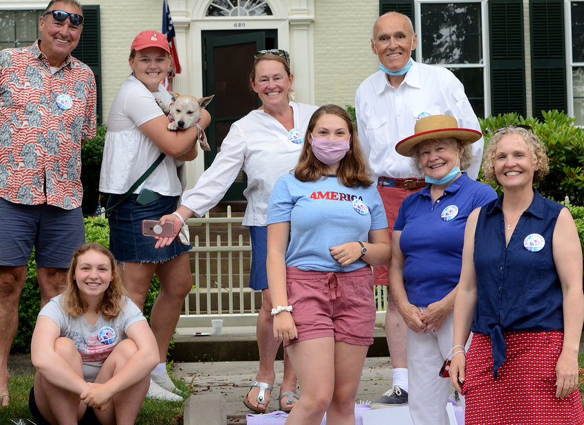 The author and family during the 2020 parade.