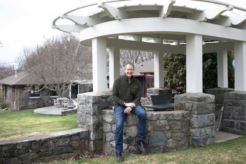 Chris Iseleib and his wife, Ann Marie, moved from the Washington, D.C. area to Barrington, buying a million-dollar house that they saw only on Zoom. Located off Nayatt Road and close to the water, it is more than 100 years old and comes with a unique stone gazebo.