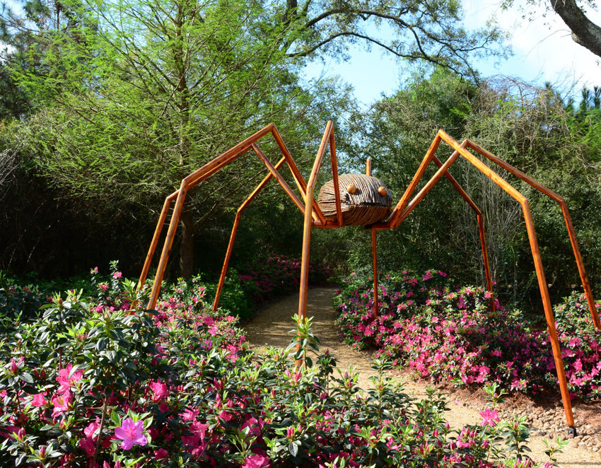 This Daddy Long Legs sculpture will be one of many you'll be able to find at Green Animals Topiary Garden starting this weekend.