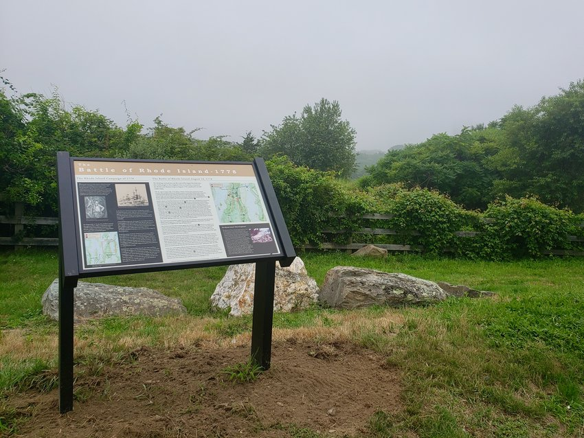 This is one of two signs located at the Lehigh Hill overlook — among several that were installed by Nathan Minese and The Department of Public Works.