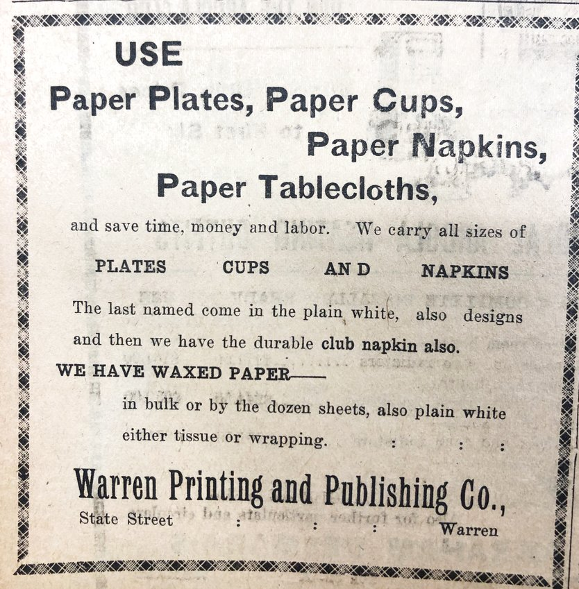 While it's fun to see paper plates and cups worthy of such a prominent advertisement, we particularly love how excited they were about the waxed paper.