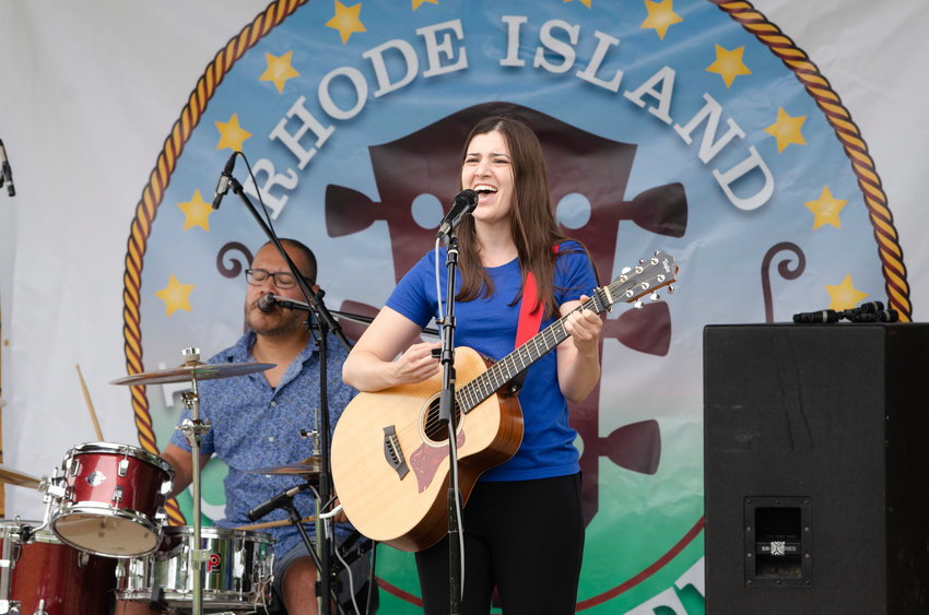 Tammy Laforest and her band, Dust Ruffles, played the Bandshell stage at the 2021 R.I. Folk Festival held Sunday, Aug. 29, at Larisa Park in East Providence.
