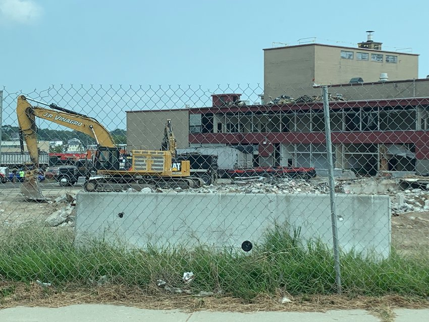 Demolition of the old EPHS structure continued on Wednesday, Sept. 14.