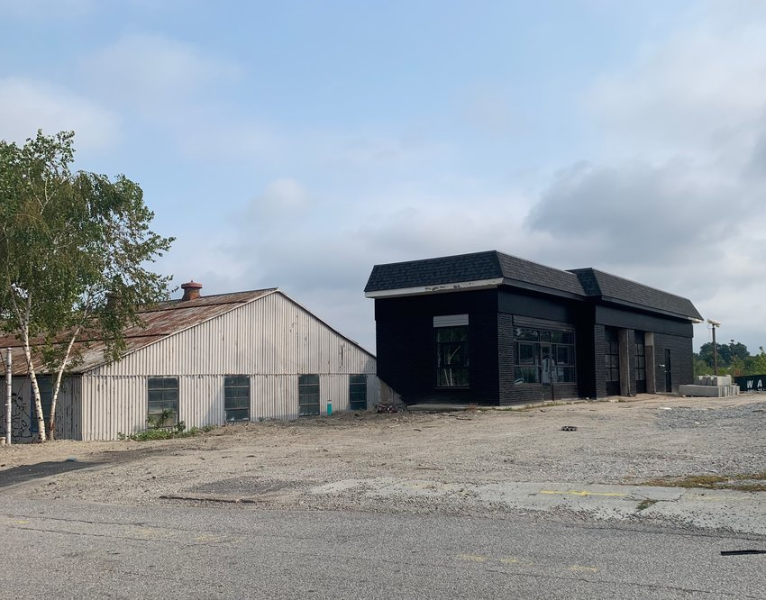 The old gas station at the former Getty Oil Terminal on Massasoit Avenue is being converted into a Southern-style eatery by local restauranteurs Nick and Tracy Rabar.