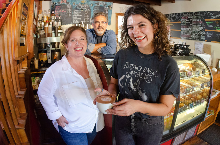 Sherry, John and Emily Scott (left to right) are the new owners of The Beehive Café and The Beehive Pantry. Emily was a Beehive employee for many years and will be overseeing day to day operations, without dramatic changes to the menu or atmosphere.