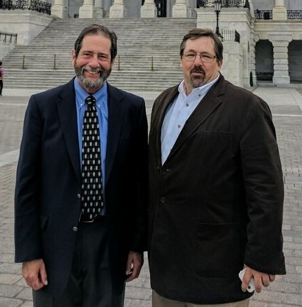 Capt. Dave Monti of Warwick and Patrick Paquette of Hyannis, MA visited Capitol Hill last week to advocate for the fish and fishing.