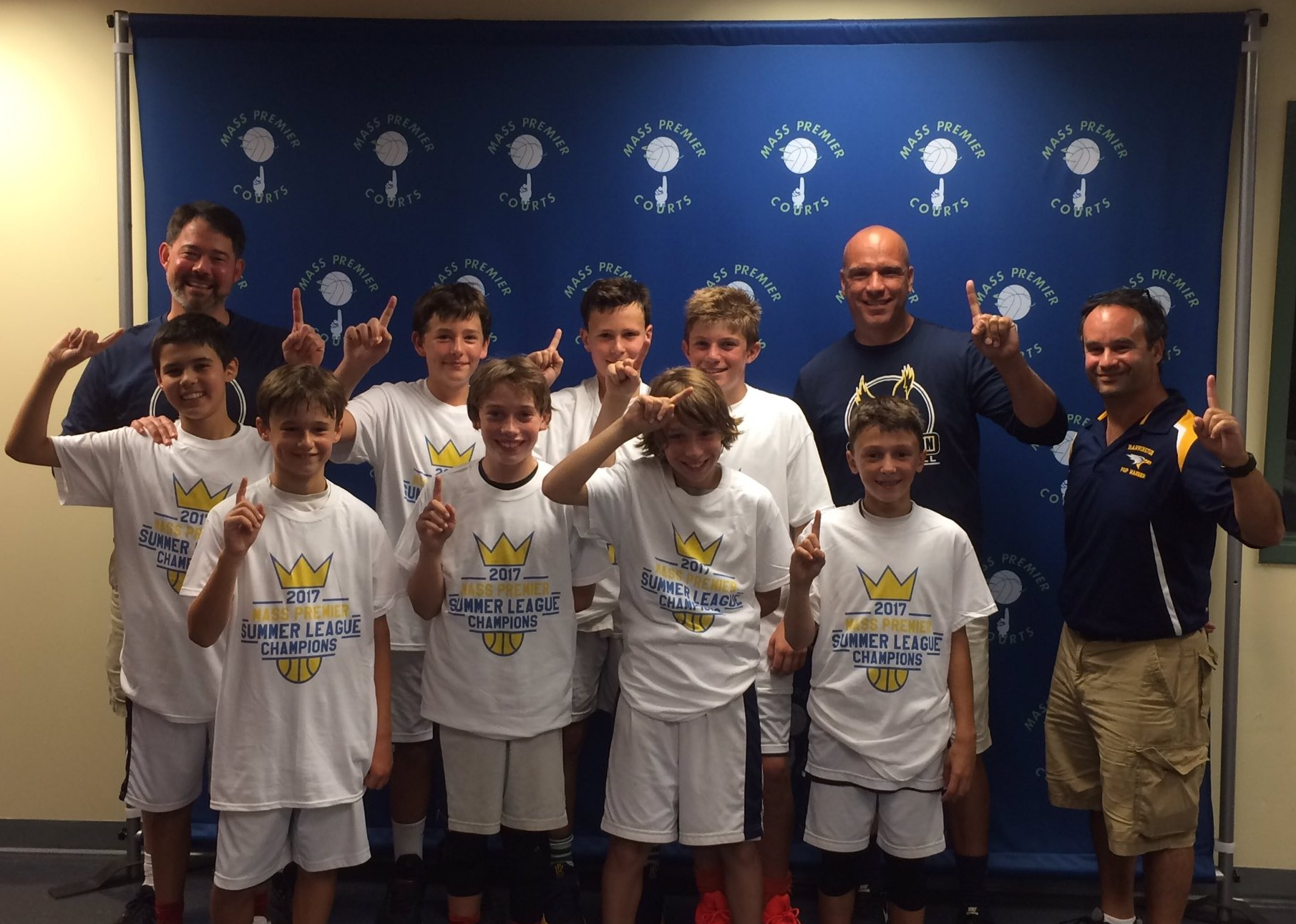 The Barrington Youth Basketball Association's Sixth Grade team recently won the Division 1 Championship in the Mass Premier Courts Summer League.
