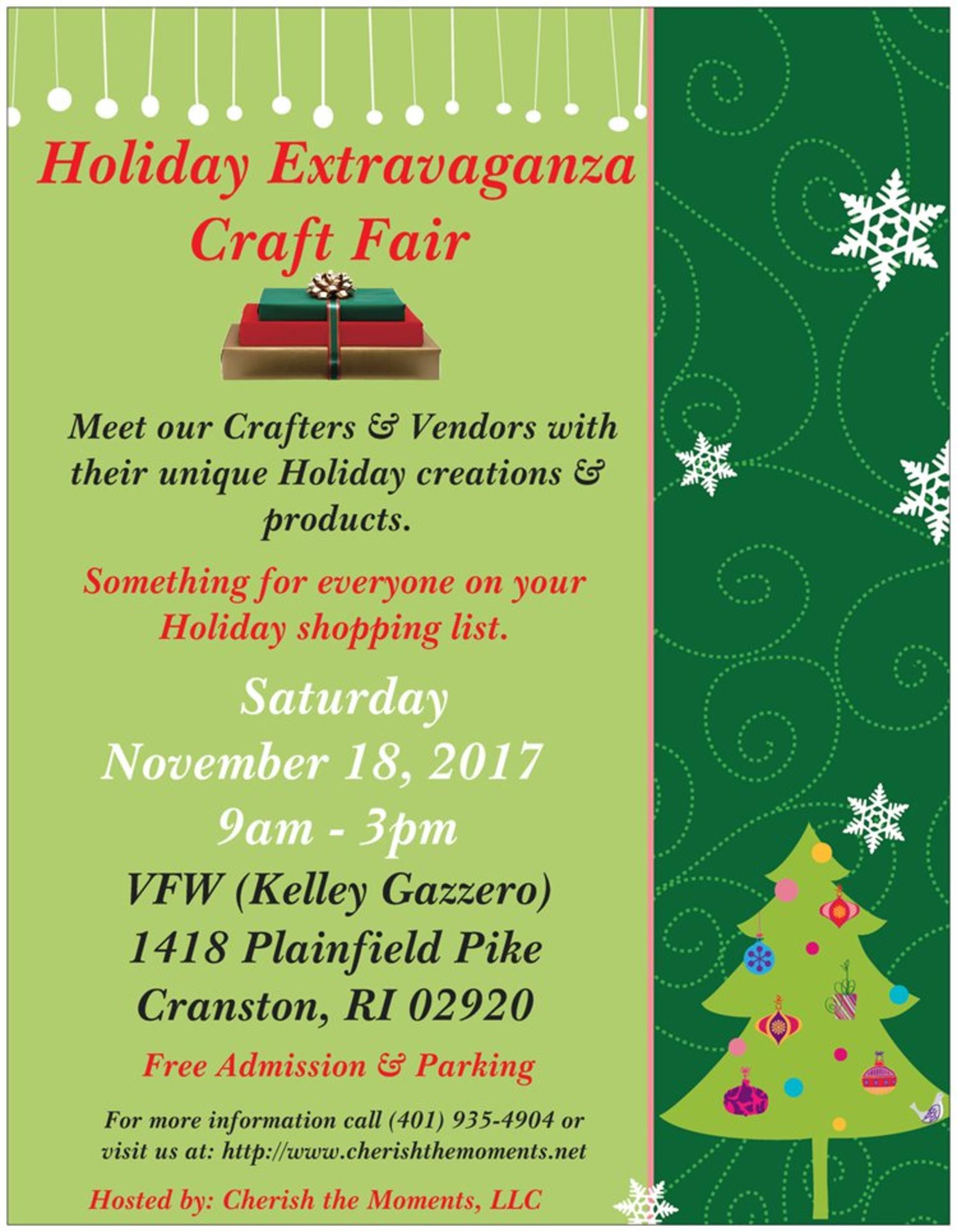 Cranston Holiday Extravaganza Craft Fair