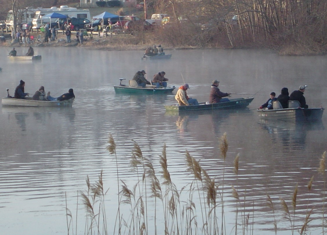 Silver Spring Lake in South County is a favorite spot for families fishing on Opening Day.