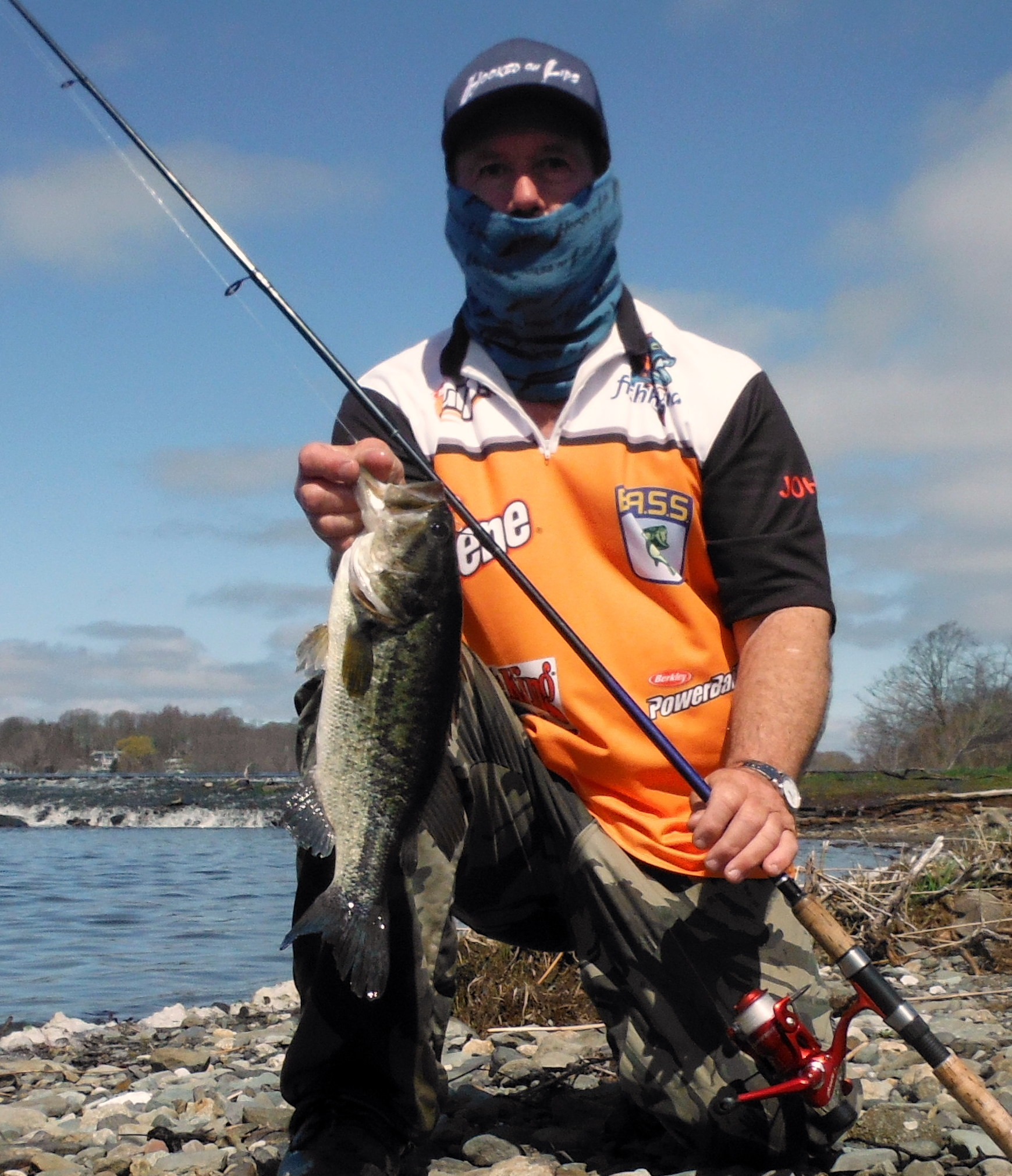 John Migliori landed this 17 inch largemouth bass on Aquidneck Island using a Shadeycreek Spinning Lure.