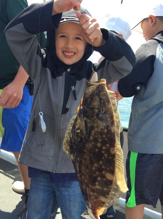 Summer flounder (fluke) caught by a camper at the RISAA/DEM fishing camp being held this year June 26 to the 28.