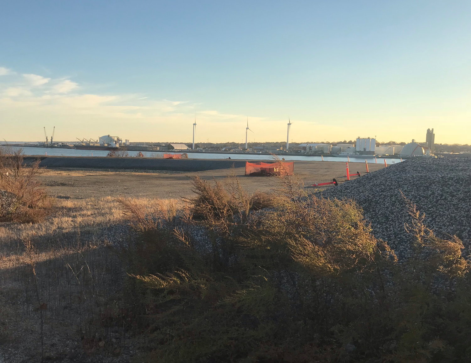 A look southwest from the Chevron property towards Providence in November 2018.
