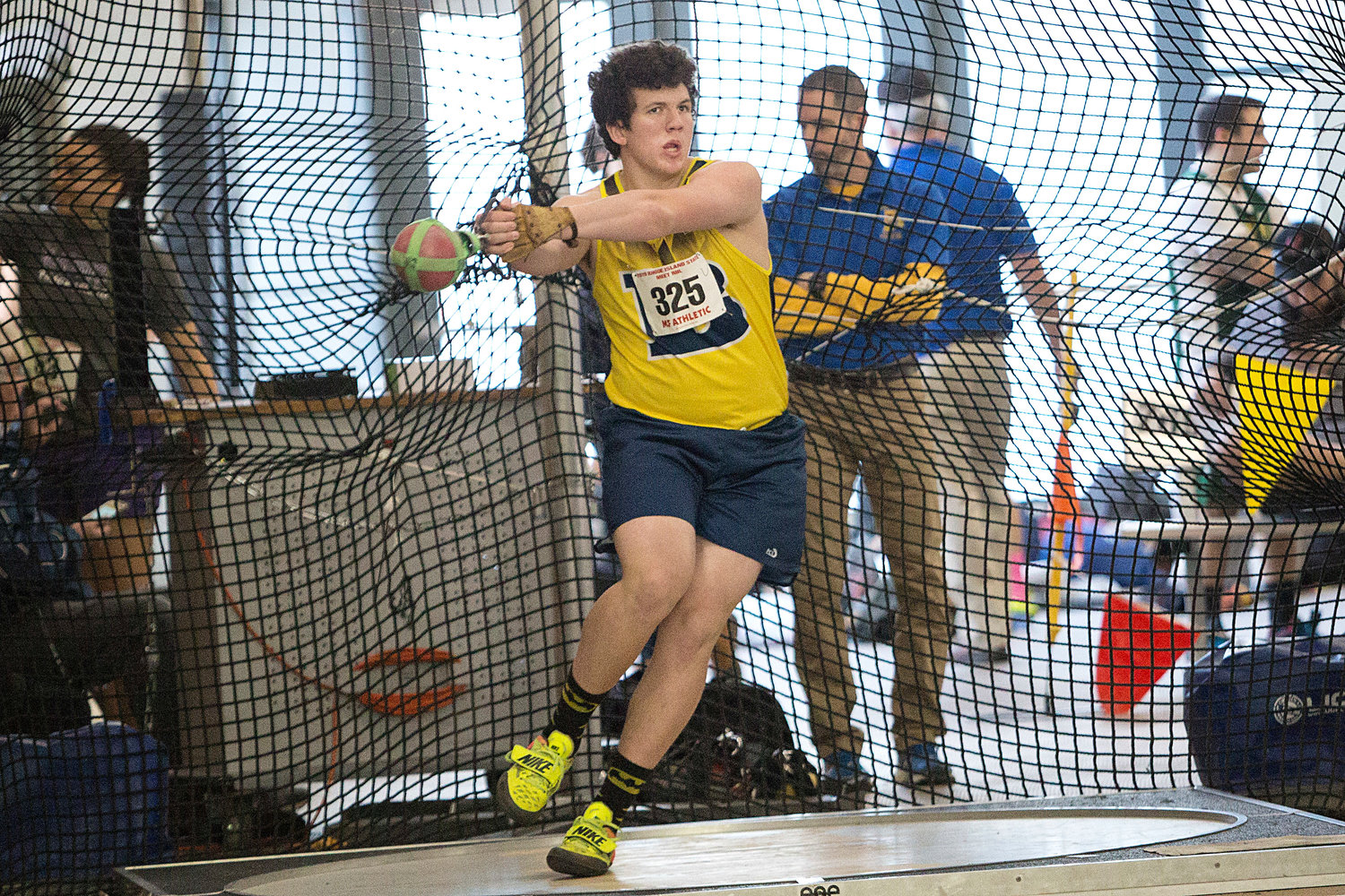 Barrington's William Cauley, shown at a prior year's state championship meet, finished fifth in the Virtual National Championships recently.