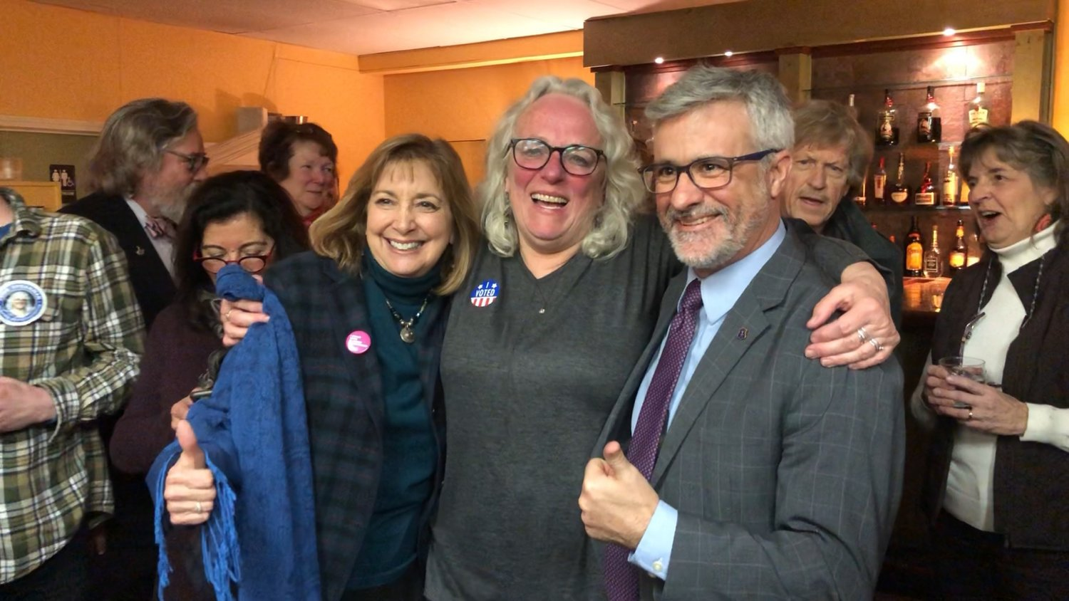 "Three of the East Bay's ""progressive"" Democrats (left to right) Susan Donovan, June Speakman and Jason Knight."