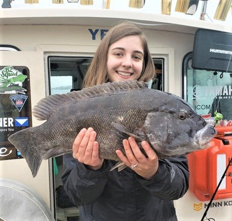 Amanda Riffkin caught and released this 9.5 pound tautog this weekend on Flippin Out Charters, Portsmouth.