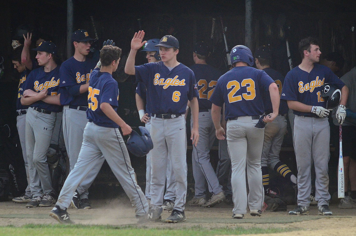 The Barrington High School baseball team defeated Prout in the semifinals and will play against Mount St. Charles in the finals. The first game is today, Monday, at 3:30 p.m. at McCoy Stadium.
